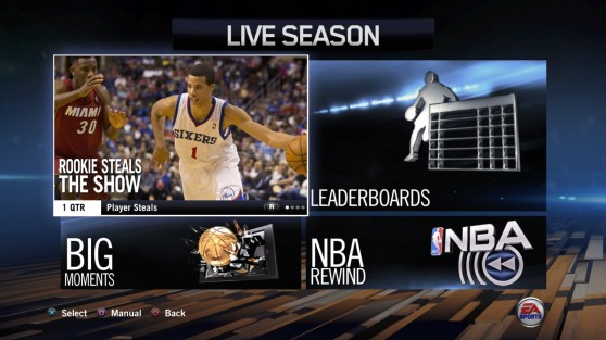 Live 14, like 2K14 also uses real world connectivity to enhance the NBA experience.