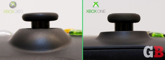 Analog sticks: Xbox 360 vs Xbox One controllers