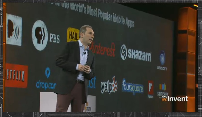 Andy Jassy, senior vice president of Amazon Web Services, announced the AppStream service for enabling streaming of compute-heavy mobile applications to end users at the re:Invent conference in Las Vegas today.