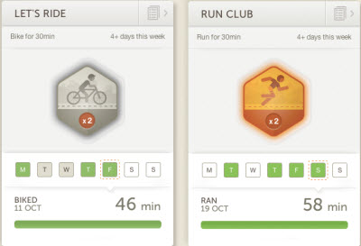 Habit cards for Basis Health Tracker.