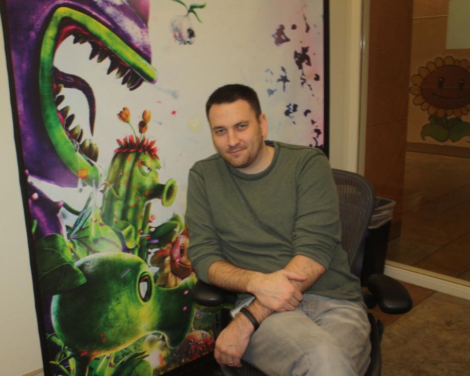 Brian Lindley, producer on Plants vs. Zombies: Gaaden Warfare