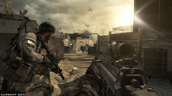 COD Ghosts Beach Day battle, where you defend Santa Monica from naval assault.