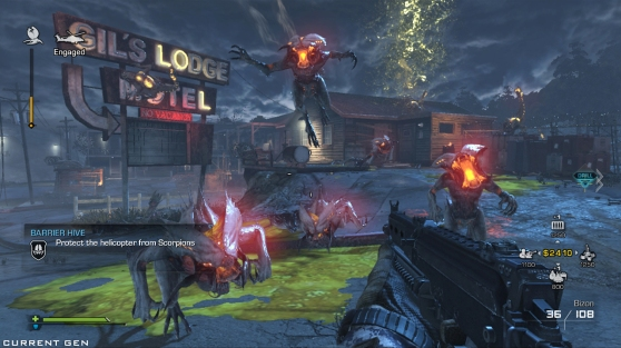 Shoot as many demon bugs as you can in Extinction mode.