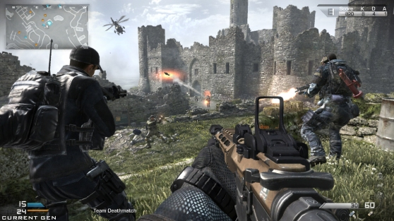 Fight in an old castle in the Stonehaven multiplayer map.
