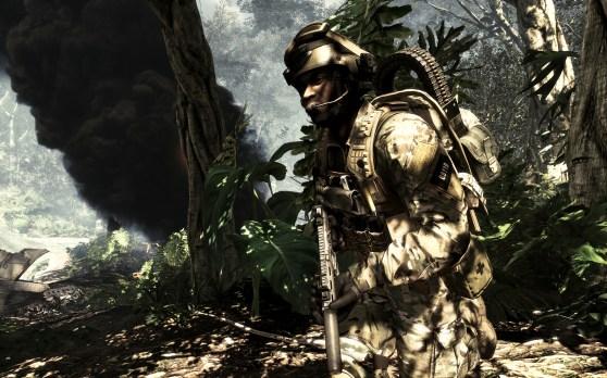Call of Duty: Ghosts jungle crash scene