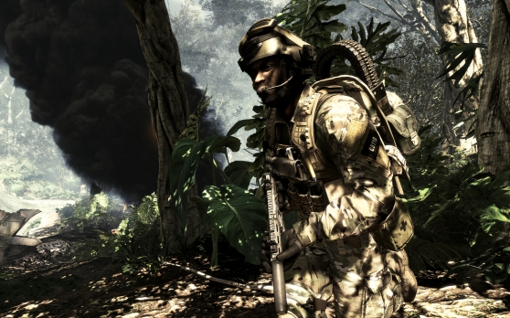 Call of Duty: Ghosts jungle crash scene