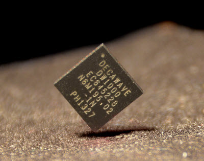 DecaWave's chip can find your position within 10 centimeters.