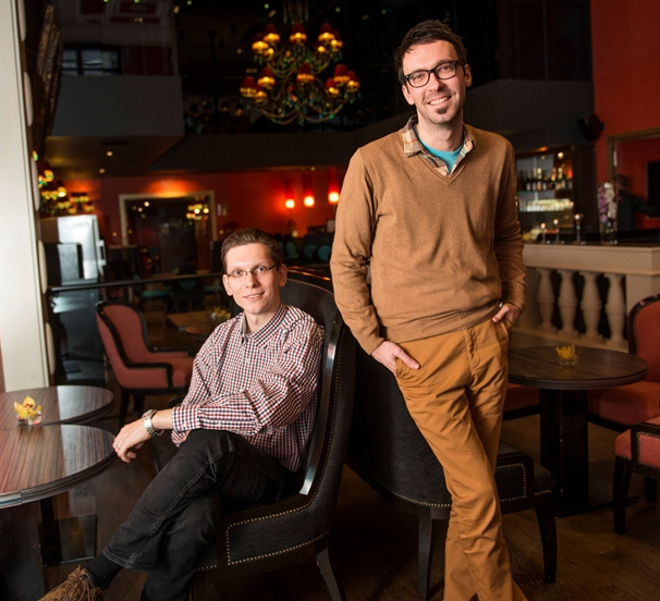 Futurelytics founders Mirek Cerny, left, and Daniel Hastik
