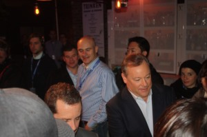 Jack Tretton, head of Sony's U.S. games division, signs the first box.