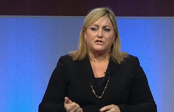 Intel President Renee James at the chip maker's analyst day.