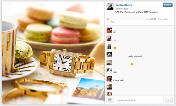 Michael Kors Instagram