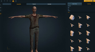 Mixamo tools automate the process of creating zombies.