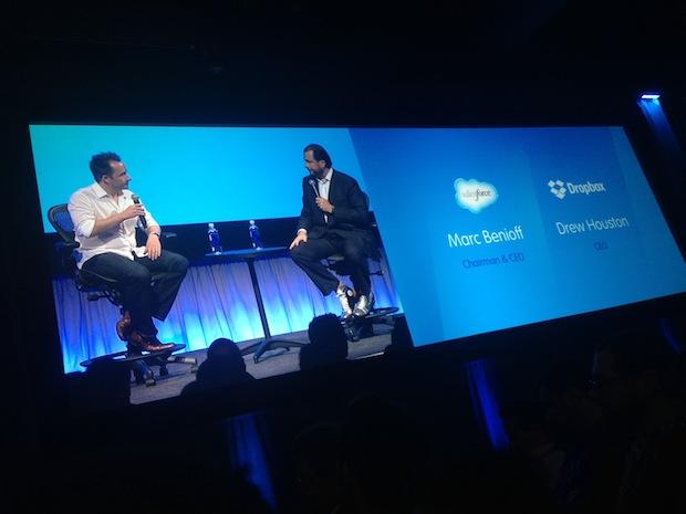 Drew Houston interviewing Marc Benioff at Dreamforce
