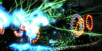 Acclaimed twin-stick shooter Resogun is blasting its way onto PlayStation Vita