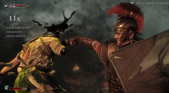 Ryse is a very bloody game.