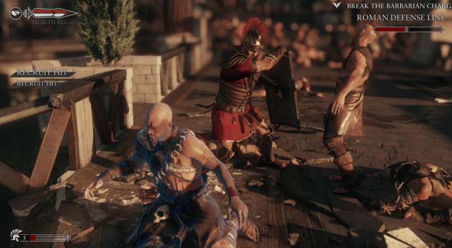 Ryse double execution scene.