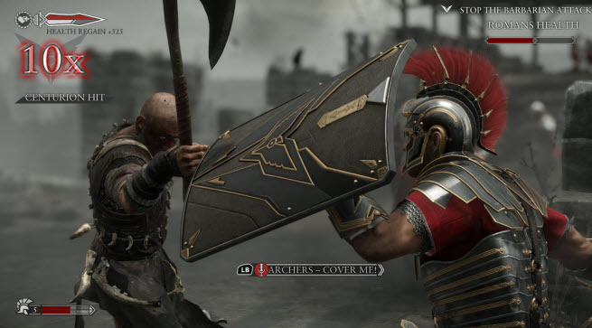 Ryse shield combat