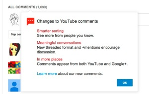 YouTube explains why its forcing you to use a Google+ account for commenting.