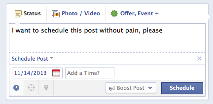 facebook post scheduling new