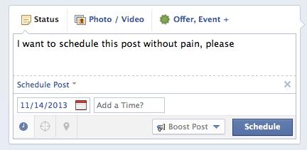 facebook post scheduling new
