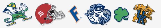 NCAA-focused emoji from TextPride