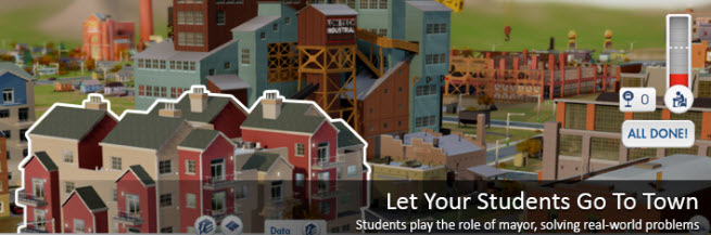 SimCityEDU games let students take control of cities.