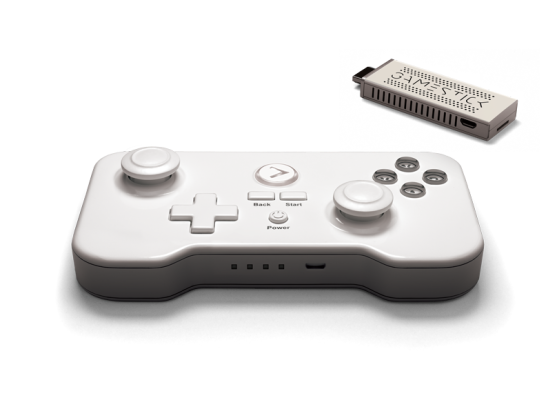 The analog sticks might look comically oversized, but the GameStick's controller is remarkably responsive.