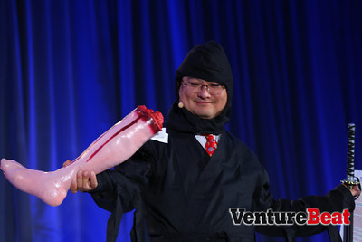 In 2013, Dean Takahashi's colleagues tricked him into thinking everyone would wear a costume on day two.