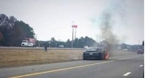 A Tesla Model S fire near Smyrna, Tenn.
