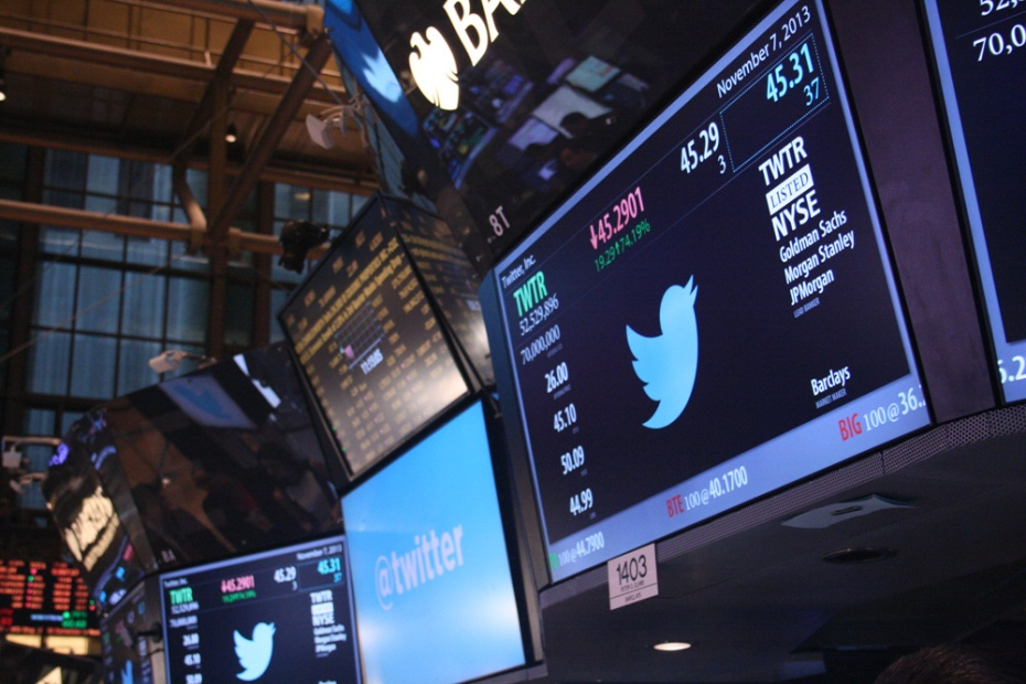 Twitter trading kicked off at $45.10 after a lengthy price discovery period