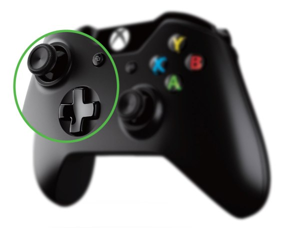 Xbox One controller - zoom analog stick, d-pad
