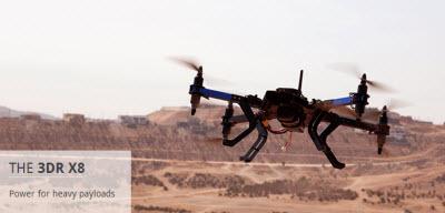 3D Robotics' 3DR X8 for heavy payloads.