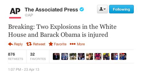 AP hacked tweet