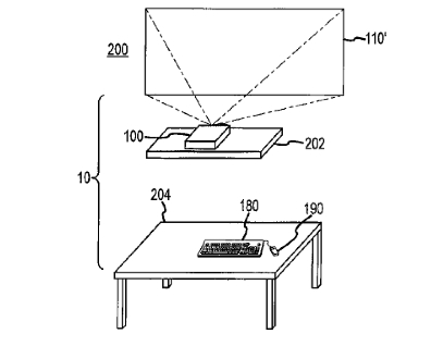 """A patent illustration from Apple's so-called """"desk-free"""" computer"""