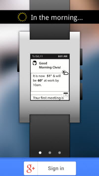 Awear can deliver the information that you need when you need it on a wearable device like a Pebble smartwatch.