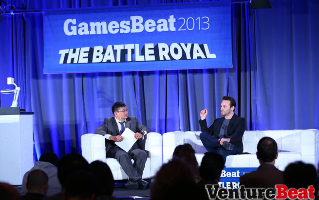 Brendan Iribe speaking at GamesBeat 2013 in October.