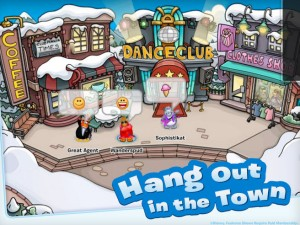 Club Penguin's town has a dance club.