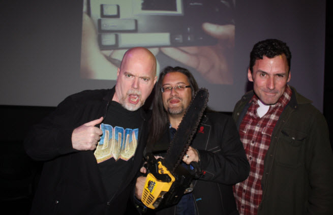 Doom anniversary attendees Tom Hall, John Romero, and Dave Taylor.