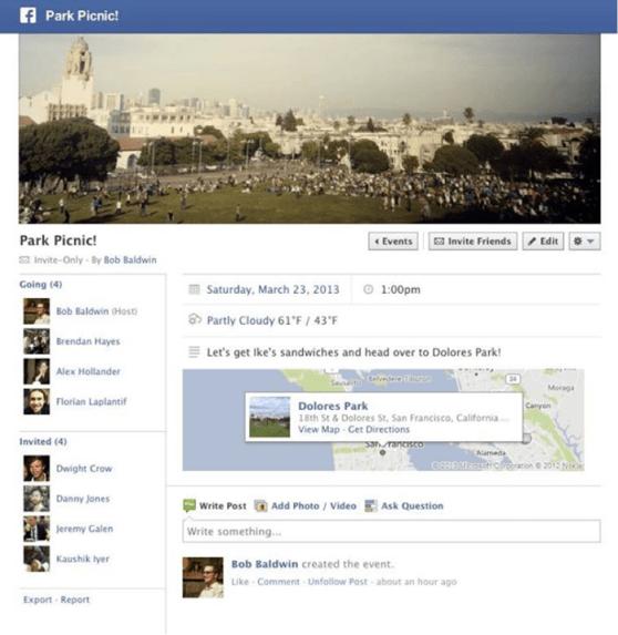 Facebook weather hack