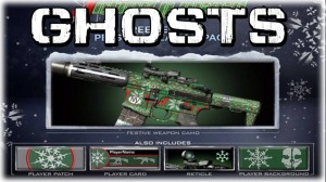 Some of the Christmas items from Call of Duty: Ghosts.