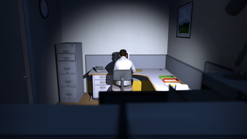 Corporate oppression can be terrifying or hilarious, depending on your level designer.