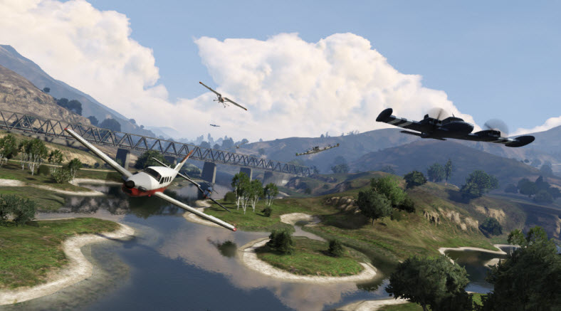 GTA Online lets you create races for any vehicles.