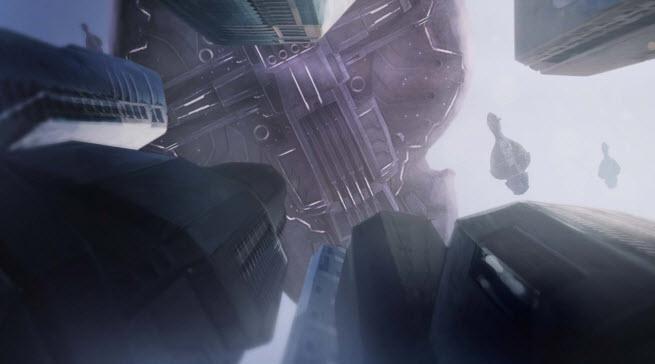 Halo: Spartan Assault cinematic landing.