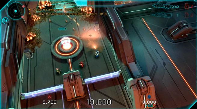Halo: Spartan Assault co-op battle.