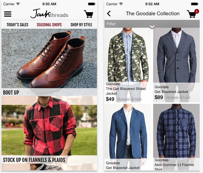 jackthreads iphone apps