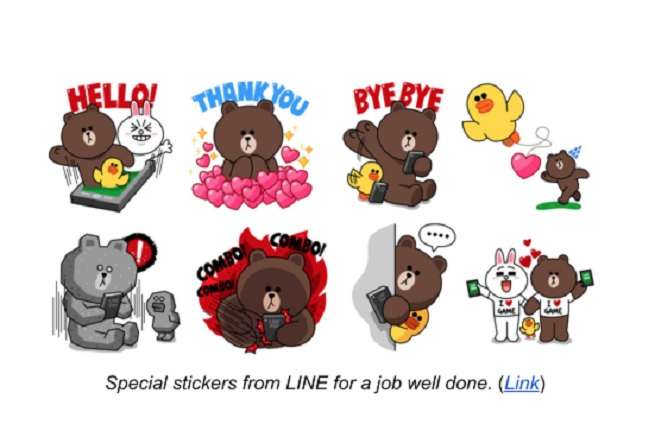 Characters from Line games.
