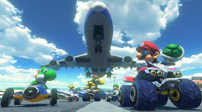 Mario Kart 8 will let you drive vertically up walls.