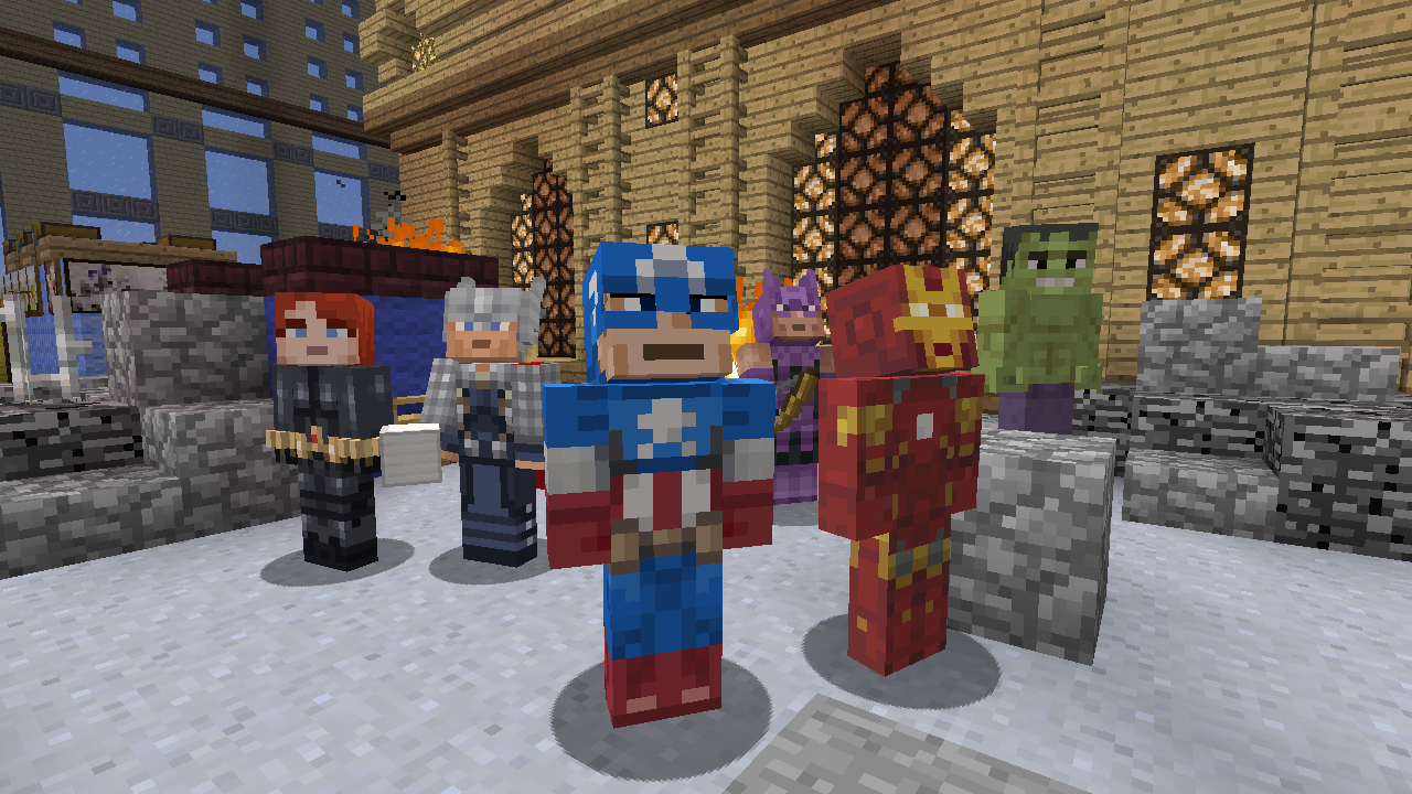 Minecraft Avengers add on available now for Xbox 360 Edition