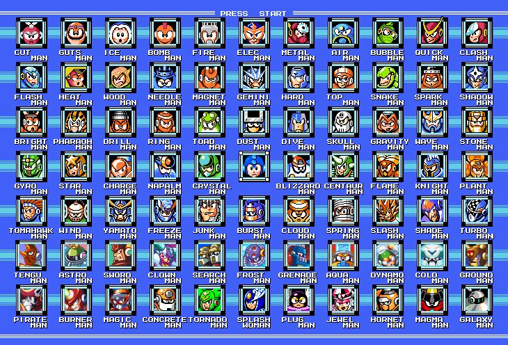 Mega Man 1-9 Bosses