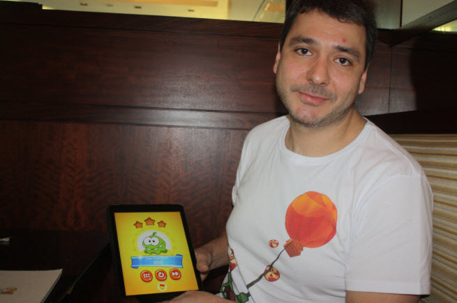 Misha Lyalin, CEO of Zeptolab, maker of Cut the Rope 2.